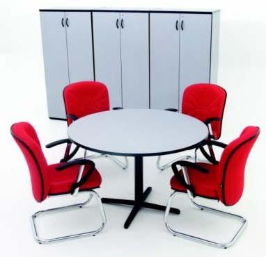 mesa-de-reunião redonda SM - móveis-para-escritório-sp