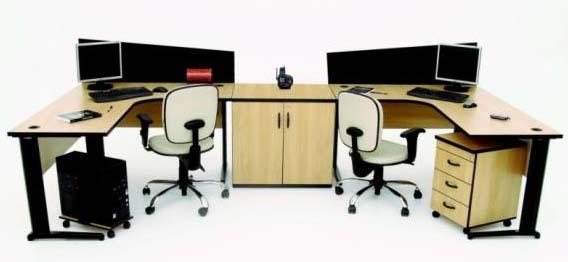Estação de trabalho para 2 pessoas - móveis para escritório sp
