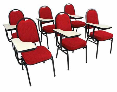 Cadeira Auditório Hotelaria STH 200 - Com Prancheta - Vermelha