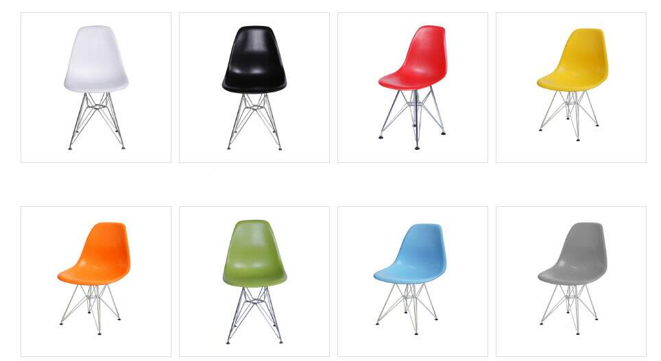 Cadeira Charles e Eames estrutura metálica, cadeiras para escritório em SP