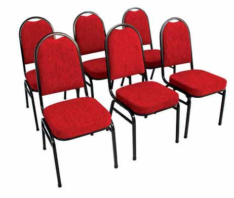 Cadeira Auditório Hotelaria STH 200 - Vermelha - Detalhe em Auditório