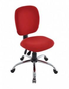 Cadeira Diretor Italic - Sem Braços - Vermelha - Cromada