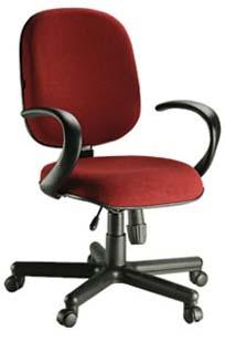 Cadeira Diretor Básica Giratória - Vermelha