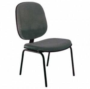 Cadeira Fixa Diretor 4 Pés - Preta