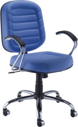 Cadeira Diretor Gomada Italic - Azul - Cromada