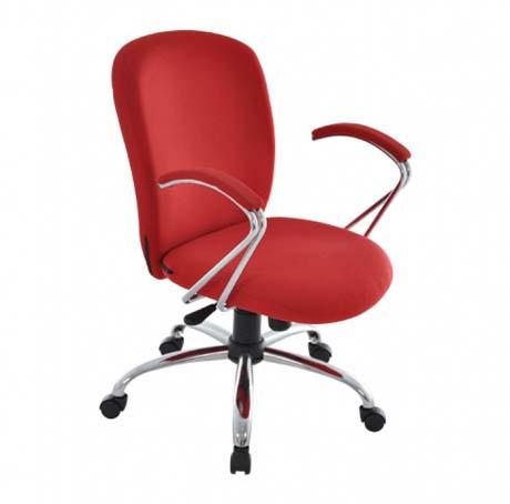 Cadeira Diretor Italic - Cromada - Vermelha