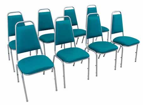 Cadeira Empilhável Estofada STH - Detalhe em Auditório