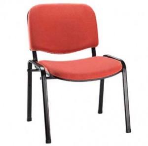 Cadeira Empilhável Estofada - Para Auditório - Vermelha