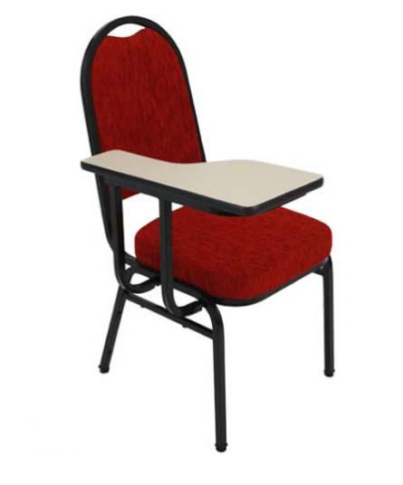 Cadeira Empilhável Para Hotelaria - Vermelha - Com Prancheta