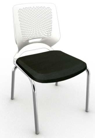 Cadeira Fixa 4 Pés Cromada - Plástico