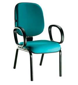 Cadeira Fixa Diretor 4 Pés - Com Braços