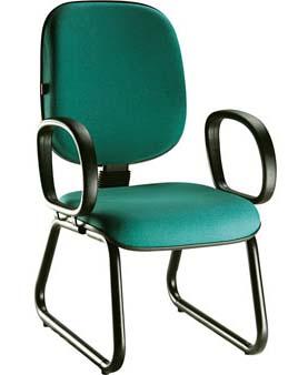 Cadeira Fixa Diretor - Trapézio - Verde