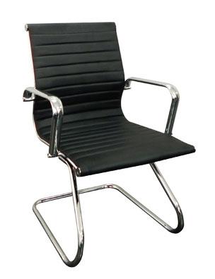 Cadeira fixa cromada, cadeira para sala de reunião, cadeiras para escritório em SP