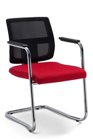 Cadeira Fixa Tela BR - Cadeira Fixa Tela BR - Vermelha - Estrutura em S