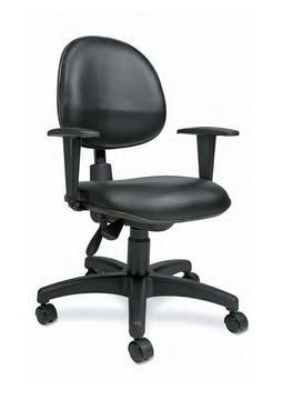 Cadeira Para Computador EXE - Com Braços - Preta