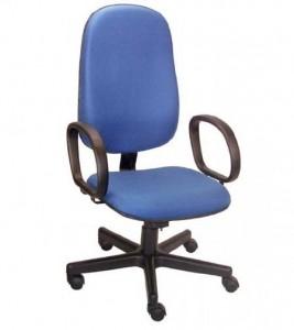 Cadeira Presidente Básica STE - Azul - Base preta