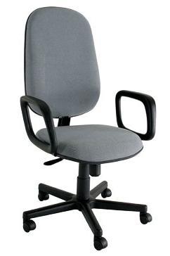Cadeira Presidente Básica STE - Com braços - Base Preta