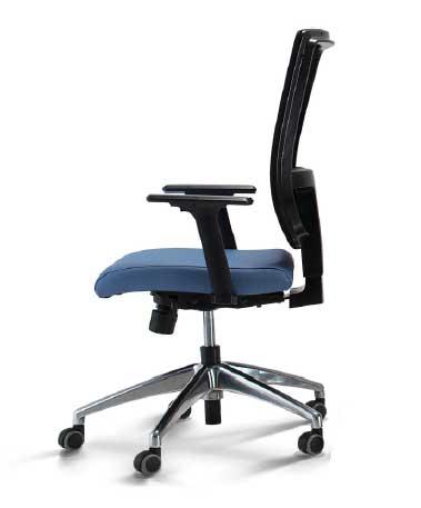 Cadeira Presidente Sof - Vista lateral - Azul