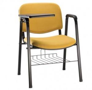 Cadeira Estofada - Para Auditório - Amarela - Com Prancheta