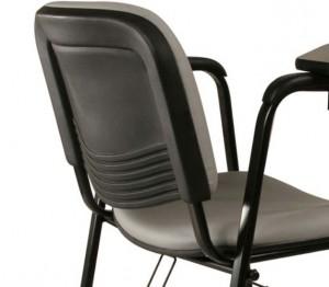 Cadeira Estofada - Universitária - Com Prancheta - Vista Posterior