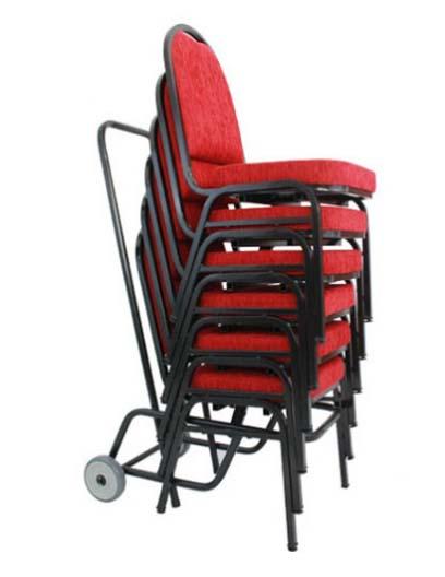 Cadeira Empilhável Para Hotelaria - Detalhe Carrinho de Transporte