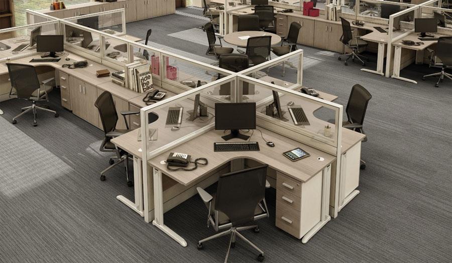 Estações de trabalho corporativas, estações de trabalho com biombos, móveis para escritório em SP