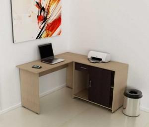 Mesa Para Computador e Home Office - Em L com gaveteiro