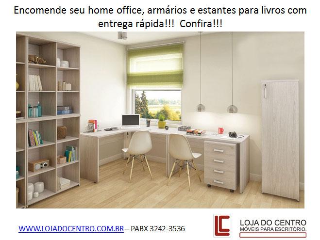 Home Office, mesa para escritório, estante para livros, escrivaninha, móveis para escritório em SP
