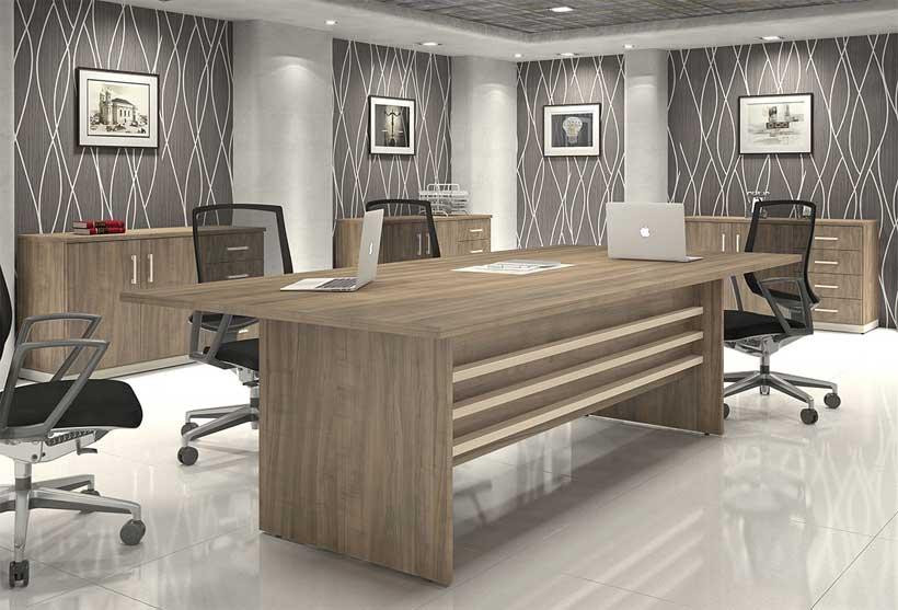 Mesa de Reunião Executiva - Vista amplificada