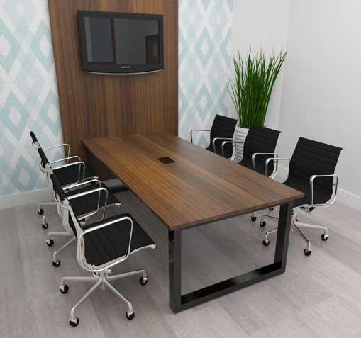 Mesa de Reunião Person - Vista com Cadeiras Cromadas