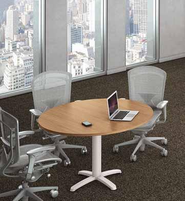 Mesa de reunião redonda Mill
