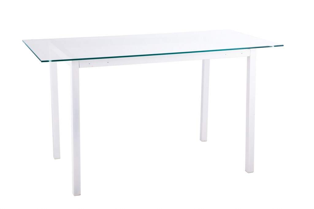 mesa de vidro retangular