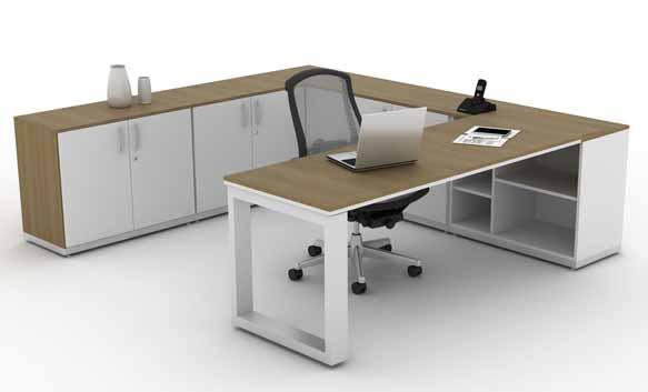 Mesa Para Escritório Diretoria Person - Formato em C