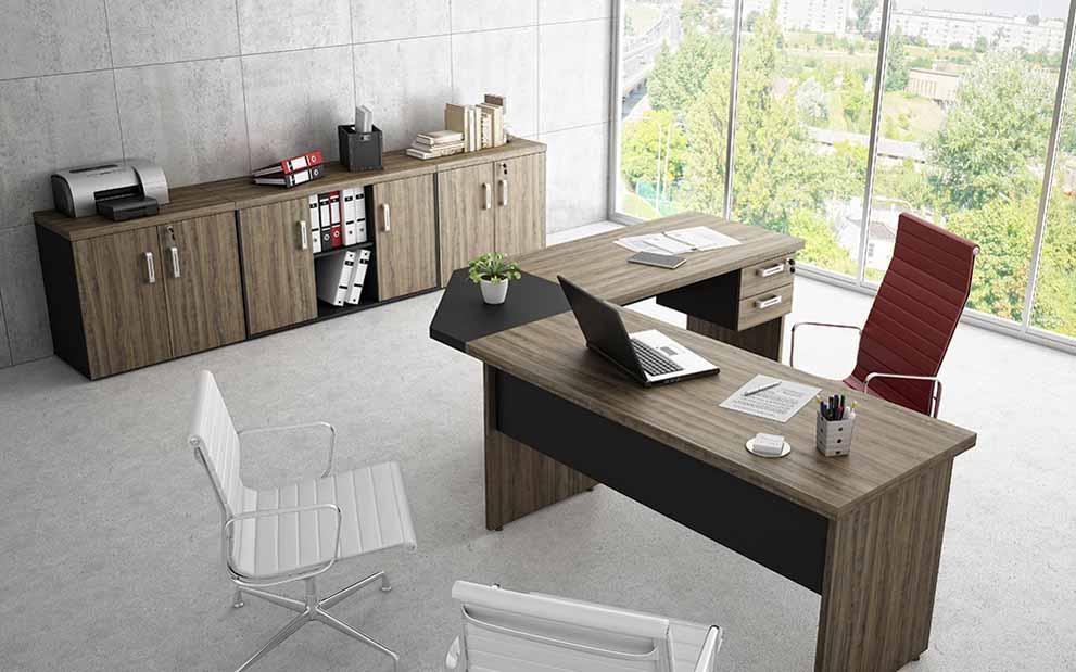 Mesa em L 40mm para Escritório, Mesa em L 40mm Diretor, móveis para escritório sp