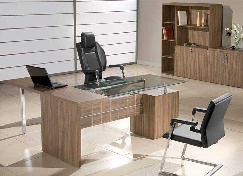 Mesa para escritório, mesa para escritório com tampo de vidro, mesa em L, mesa reta, móveis para escritório sp