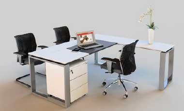 Mesa Para Escritório Diretoria Person - Em L - Branca