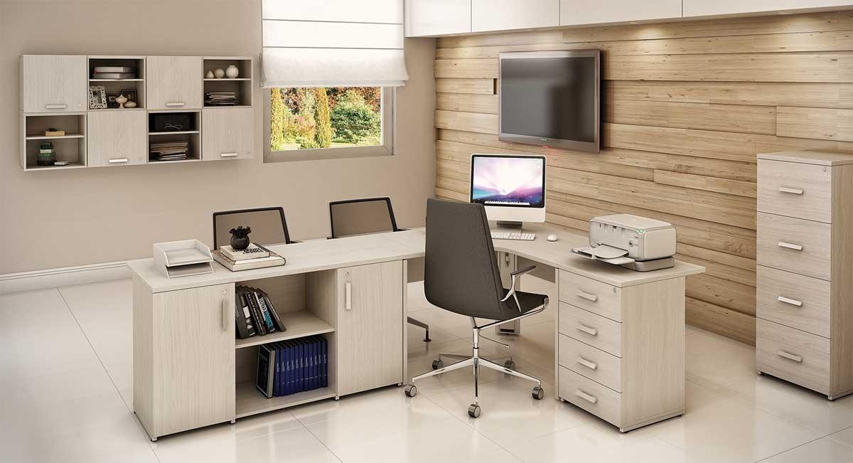 Mesa Para Escritório PR 25mm - Vista Gaveteiros