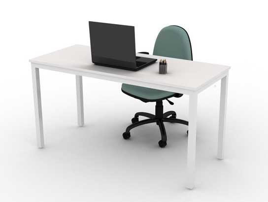 Mesa Para Escritório Reta BEA - Branca