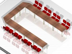 Mesa Para Escritório Reta - Conjunto em U