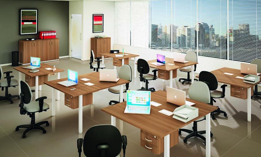 Mesa Plataforma 1 - Com Cadeiras estofadas