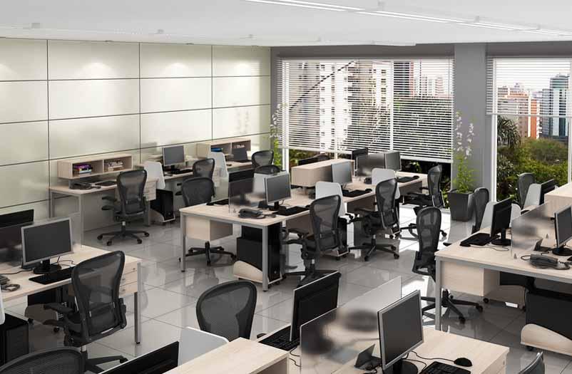 Mesa Plataforma 6 Lugares Corp - Vista do Salão