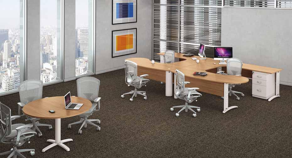 moveis-para-escritorio-mill-com mesa de reunião
