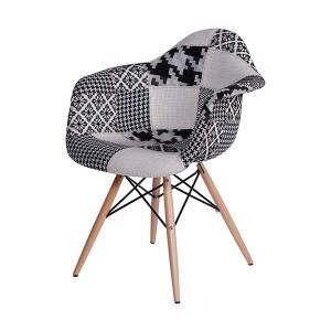 Poltrona Charles e Eames Patchwork, cadeiras para escritório em SP