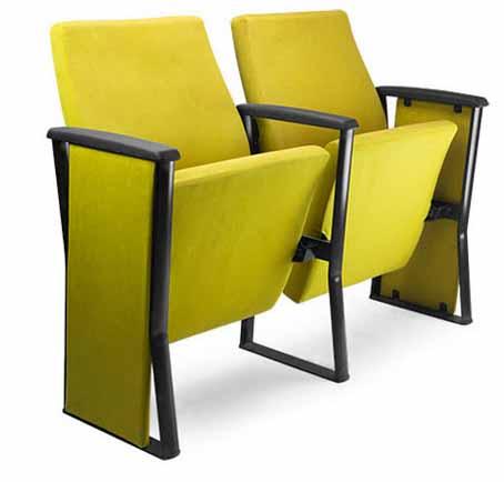 poltrona para auditório com assento rebatível