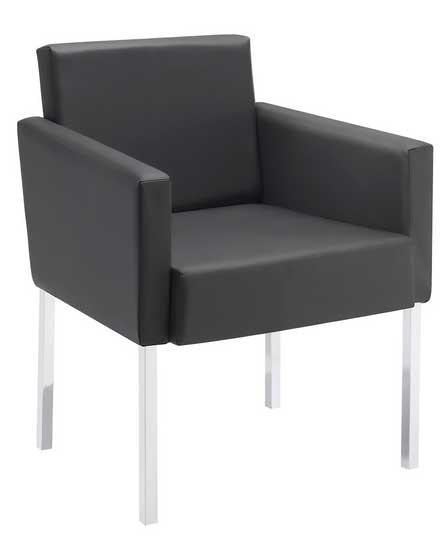 Poltrona ou sofá de 1 lugar para recepção Seat cromo