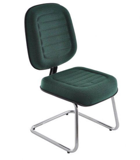 Cadeira Fixa Gomada Crom - Cadeira Fixa Visita - Moveis para Escritorio SP