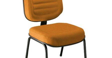 Cadeira fixa sem braços, cadeira fixa com gomos, cadeira fixa reunião