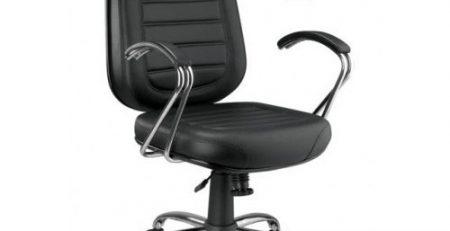 Cadeira presidente preta, cadeira presidente cromada
