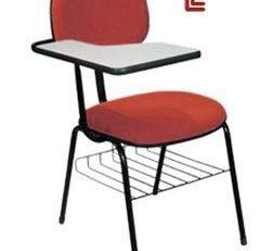 Cadeira Universitária Básica - Prancheta Fixa - Vermelha
