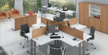 Estação de Trabalho 4 Lugares Corporativa, Estação de Trabalho 4 Lugares Fortline